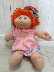 Vintage Cabbage Patch Doll '85 Red Hair & Freckles Intact Signature Rare Outfit