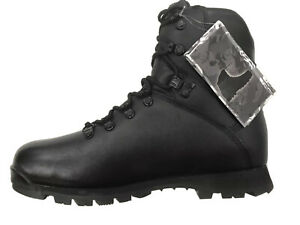 NEW ITURRI British Army Issue Patrol Black Leather Boots Size 10L Male #3725