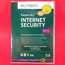 Kaspersky Internet Security 2013 3 Devices PC Mac Android IOS Factory Sealed New