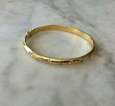 Bangle Sterling Silver Bracelet  QVC Gilt & Cubic Zirconia   (105386V)