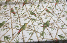 Parrots Bamboo Penelope Rosaline Cotton Drapery Upholstery Fabric by the yard