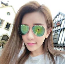 Unisex Women Men Fashion Aviator Mirror Lens Sunglasses Vintage Retro Glasses US