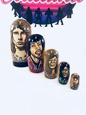 Rare Russian Nesting Eggs• 5 in 1 ~1998 Morrison-Hendrix-Joplin-M arley-Garcia!
