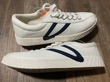 NEW $70 Tretorn Nylite Pus sneakers logo white navy blue size 11 mens east dane