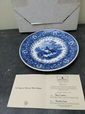 Wedgwood Blue and White Collection Queens Ware Plate - Drover