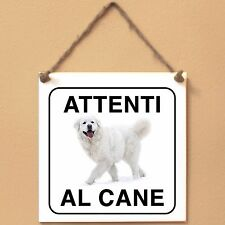 Cane da pastore di Tatra 1 Attenti al cane Targa piastrella cartello