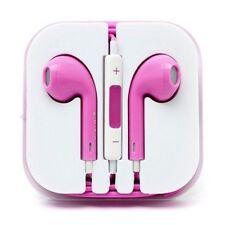 PINK Earphones Headphones For EarPods With Mic SONY HTC SAMSUNG S 6 Nokia P&P