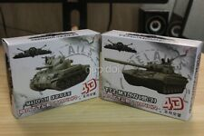 Toy 4D tank Military decoration Model Tank M42 tank dusters & T72-M1