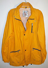 yellow waterproof sailing jacket by North Bay size L