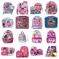 LOL Surprise Backpack or 5 PC Set Or Lunch Box Or Pencil Case Kids School Bag