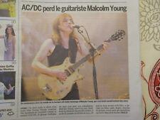 JOURNAL DECES DE : MALCOLM YOUNG guitariste et fondateur d'AC/DC - 20/11/2017 -
