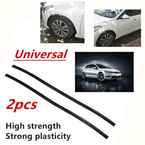 "2x 46"" 3D Carbon Fiber Car Wheel Eyebrow Arch Lips Fender Protector Plasticity"