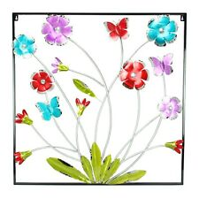 Flowers Metal Wall Art 3D Picture Décor Sculpture Hanging Home & Garden