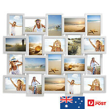 20 IN 1 WOODEN COLLAGE PHOTO FRAME WHITE