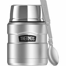 Thermos 16 oz Food Jar & Folding Spoon Stainless Steel Lunch Box Camping Picnic