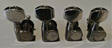 VINTAGE MACHINE HEADS, 4, GUNMETAL, DOUBLE PIN, USED