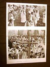 Moda e costume in Abruzzo nel 1899 La processione del Santo Fratelli Gran croce