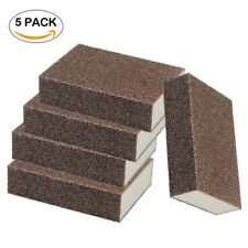 5pc Nano Sponge Eraser Cleaning Emery Pad Brown For Home Kitchen Descaling