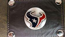 Houston Texans 3 Piece Leather Luggage Set- Duffle, Messenger & Travel Kit