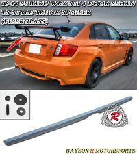 TS-Style Rear Trunk Lip Spoiler (FRP) Fits 08-14 Impreza WRX STi 4dr