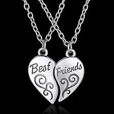 """2pcs Friendship Herz Buchstaben """"Best Friend"""" Anhänger Halskette Kette IMAX"""