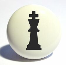 CHESS PIECE KING HOME DECOR CERAMIC KITCHEN  KNOB DRAWER CABINET PULL