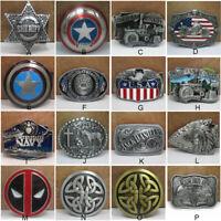 Vintage Style Mens Metal Belt Buckle Fashion Unique Western Cowboy Jewelry