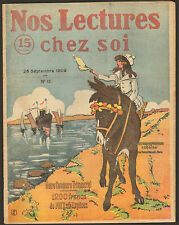 REVUE NOS LECTURES CHEZ SOI ANE DONKEY A LA PLAGE BEACH 1909