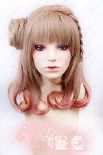 Amnesia Heroine Cosplay Costume Braided Brown mix Wig free wig cap