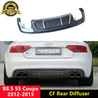 B8.5 S5 Rear Diffuser Spoiler Carbon Fiber for Audi S5 Coupe 2012-2015 R Style