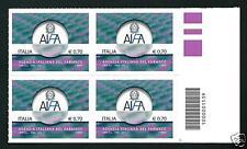 Italia Repubblica 2013 : AIFA - quartina con codice a barre