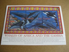 GAMBIA WHALES OF THE AFRICA SHEETLET