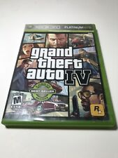 Grand Theft Auto IV (Xbox 360, 2008) W/ Platinum Hits Case