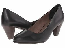 TAMARIS PIMELA BLACK LEATHER PUMPS NIB $99.99 38 7 M 1-22400-26 001
