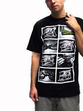 Rebel 8 Smoke something t-shirt Black nuevo! Weed marijuana Kush joint hierba cali L