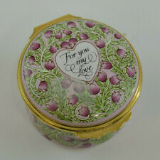 Halcyon Days St. Valentines Day 1993 For You My Love Enamel Box