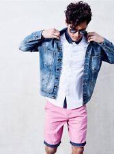 G By Guess Men's Noel Destroyed Denim Light Blue Jacket Paint Splatters Size L