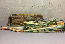 Vintage Antique Marke Technofix Western Germany Tin Toy Early Alpine Express Old