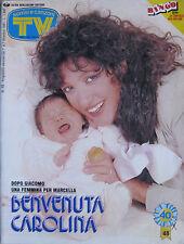 SORRISI 48 1991 Marcella Johnny Dorelli Monica Bellucci Funari Amanda Lear Moda