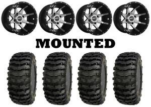 Kit 4 Sedona Buzz Saw Tires 26x9-14/26x11-14 on Sedona Storm Machined Wheels IRS