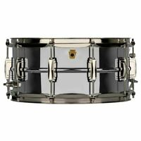 Ludwig LB402BN Super Ludwig 6.5x14 Chrome Over Brass Snare Drum, Nickel Hardware