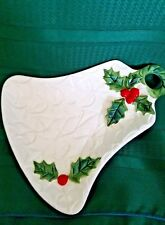 Lefton Christmas Holiday Bell with Holly Kitchen Spoon Rest