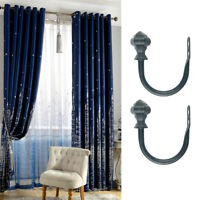 2x Window Curtain Tiebacks U-shape Drape Tie Backs Wall Hook Holdback Buckle