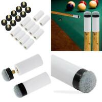 Billiard Cue Tips 13Mm Soft Grey Replacement Screw-On Tips Pool Cue Stick 10 Pk