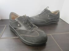 FINN COMFORT BLACK LEATHER SHOES SIZE  8 (A06)