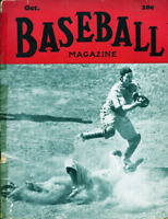Baseball Magazine October 1942 Vintage Cover