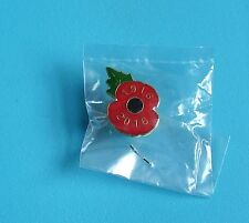 Royal British Legion 1916-2016 Commemorative Poppy stud pin badge BNIB