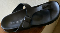 Lola Sabbia for Eric Michael Black Leather Sandals Size 6.5 or 37 EU Super Cute!