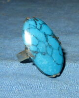 Ring Fashion Turquoise Gemstone Afghan Kuchi Tribal Alpaca Silver Size 7
