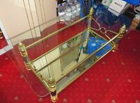 Gold Mirrored Tempered Glass Egyptian Style Coffee Table